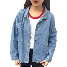 Mujeres Denim Corto Abrigo Chaquetas De Mezclilla Chamarra Otoño Coat Jacket Aspicture L