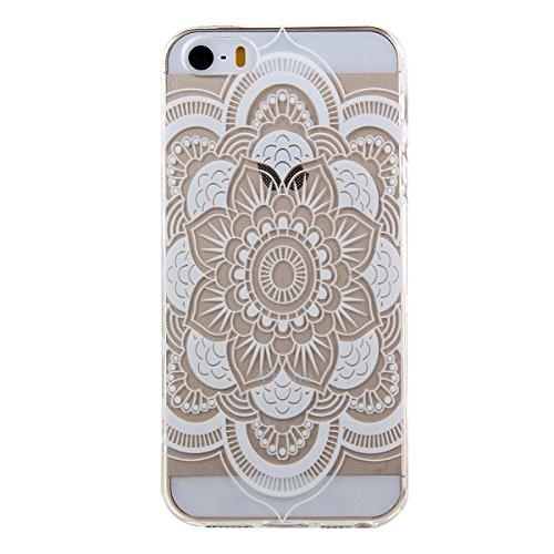 Kakashop iPhone 5C Silicone Etui Case Cover Transparent Crystal Clair Doux TPU, Rétro Fleur Peinture de Style Soft Gel Retour Housse Coque pour iPhone 5C(tournesol 2) flower palace