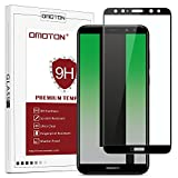OMOTON Compatible with Mate 10 Lite Screen Protector, Full Coverage Tempered Glass with 3D Round Edge, 9H Hardness, Crystal Clear, Scratch Resist, Black