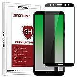 OMOTON Huawei Mate 10 Lite (5.9 Pouces) Protection Ecran Verre Trempé(Couvert Complète), Film Protection [9H Dureté] [Ultra Clair] sans Bulles Noir