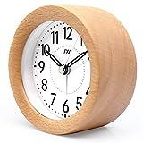 Best Human Alarm Clocks - HITSAN INCORPORATION TXL Wooden Desktop Snooze Alarm Clock Review