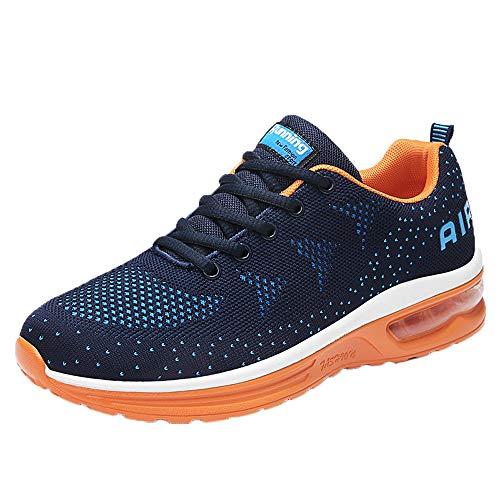 Overmal Männer Fliegen Gewebt Leichte Athletic Gym Laufschuhe Atmungsaktiv Rutschfeste Sport Wanderschuhe Fitness Jogging Turnschuhe Trainingsschuhe Outdoor Sneakers für Studierende -