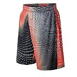 Best Pantalones cortos de baloncesto - 1Bests Hombres Baloncesto Deporte Impresión Cintura Elástica Secado Review