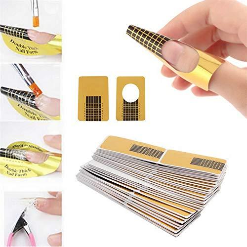 Hilai 100pcs Nail Holder Acrílico UV Gel Nail Art