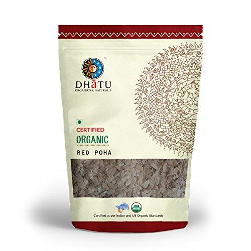 Dhatu Certified Organic Red Rice Poha (Beaten Rice) 500g
