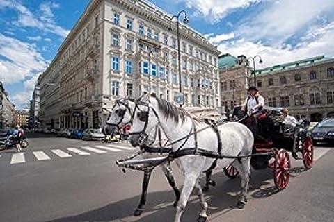 Jim Engelbrecht / DanitaDelimont – Horse Drawn Carriage in Vienna Photo Print (91.44 x 60.96 cm)