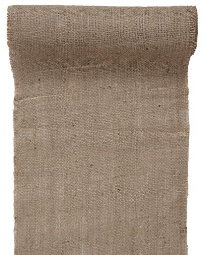 Jute Tischläufer, Natur Braun, 26 cm x 5 Meter | Juteband Natürlich | Hochzeit Tischband | Vintage...