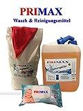 Set 21-10 kg Waschpulver + 10 L Primax Spülmittel und 80 Babyfeuchttücher + AT
