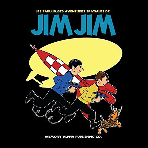 Jim Jim Star Trek Tin Tin Men's T-Shirt Black