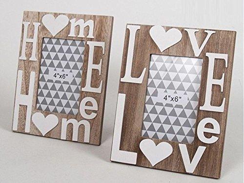 Gerimport Portafotos Love Home Madera 10x15cm 2 Surtido A Elegir 1
