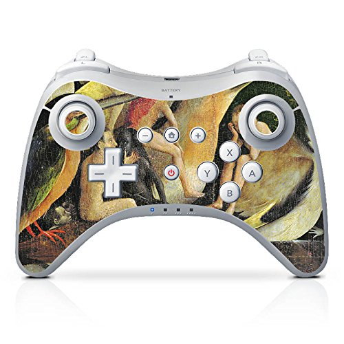 Preisvergleich Produktbild Nintendo Wii U Pro Controller Case Skin Sticker aus Vinyl-Folie Aufkleber Hieronymus Bosch Der Garten der Lüste Kunst