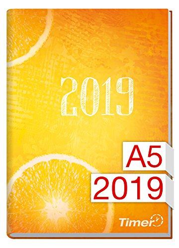 Chäff-Timer Classic A5 Kalender 2019 [Fresh Orange] 12 Monate Jan-Dez 2019 - Terminkalender mit Wochenplaner - Organizer - Wochenkalender