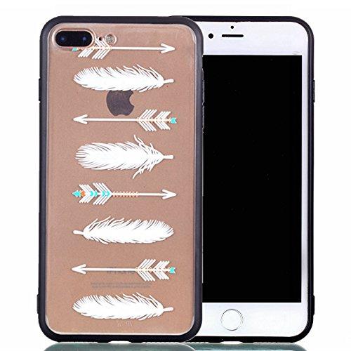 Case iPhone 8 Plus / iPhone 7 Plus (5.5 pouces) Silicone Case Mince 2 en 1 Avancée TPU Cas Transparent Téléphone Case Apple iPhone 8 Plus / iPhone 7 Plus (5.5 pouces) Cas Slim TPU En Relief Motif ( S ) (7)