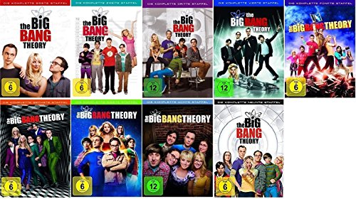 The Big Bang Theory Season / Staffel 1+2+3+4+5+6+7+8+9 * 1-9 / DVD Set / Alle 9 - 1 Big-bang-dvd-staffel