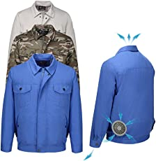 Leoie Outdoor Air Conditioning Clothes Cooling Conditioned Fan Work Staff Jacket for High Temperature Fishing Hunting