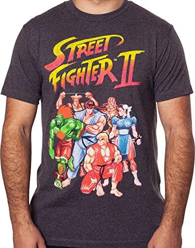 maikeerCapcom Men's Street Fighter II Video Game T-Shirt (Fighter Street T-shirt)