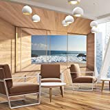CARTA DA PARATI FOTO ,,Bay View 109' 366 x 254cm oceano mare spiaggia duna - fotomurali - poster gigante - inclusivo pasta polvere di colla NUOVA XXL