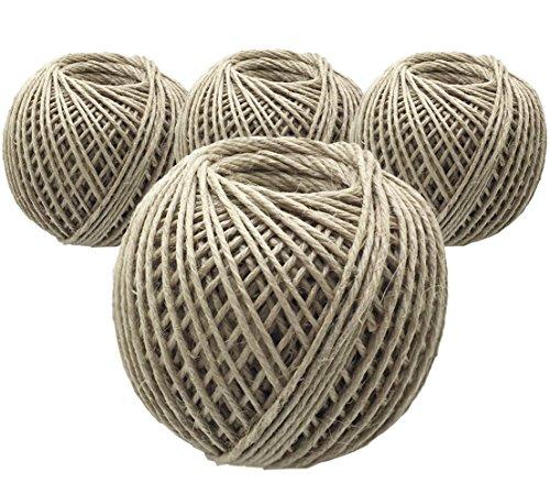 Dehner Lot de 4 ficelles en Jute, chacune 100 m, épaisseur 2,5 mm