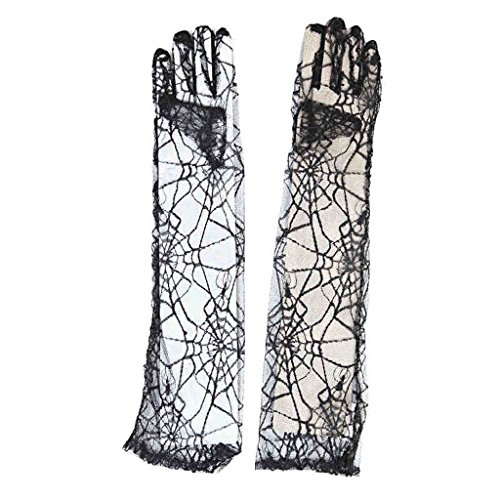 Halloween Supplies Spider Web Skeleton Handschuhe Tanz Show Requisiten