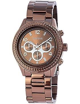 Raptor Damen Armbanduhr Metallband Analog Quarz Kupfer 197557000001