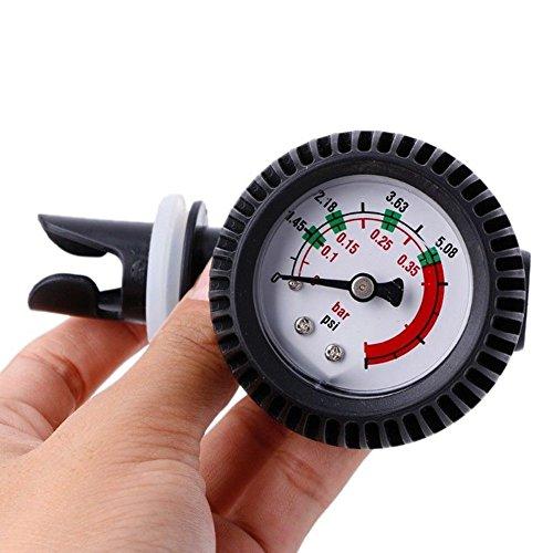 Luftdruckprüfer für Schlauchboot, Kajak-Test, PVC Manometer, Druckmessgerät, Luftthermometer für Boot, Raft, Rippen-Kajak mit Schlauch-Anschlussadapter, 1 Stück
