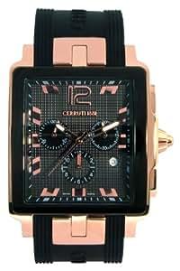 Cerruti 1881 - CRB003D224G - Montre Homme - Quartz - Analogique - Chronomètre - Bracelet Silicone Noir