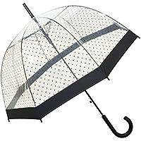 SMATI Paraguas largo transparente forma de campana automático-estampado(Mujer)