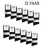 12 Paar KAYHAN Socken Black Uni size 39-42
