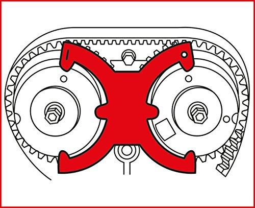 KS Tools 400.4125 Ford / Volvo - Motoreinstell-Werkzeug-Satz, 4-tlg.