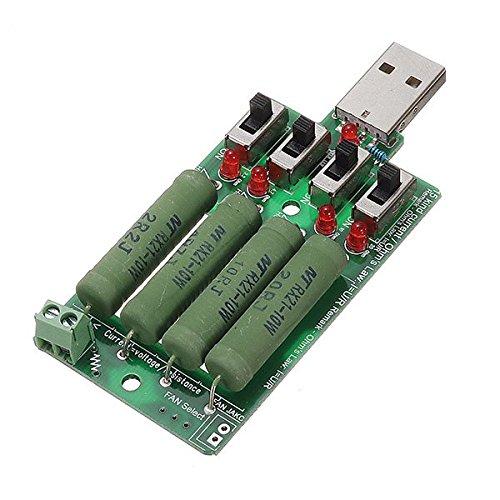 LaDicha 5 Stücke Juwei 10 Watt 4 Schalter USB Alterung Entlader 15 Arten Aktuelle Testlast Leistungswiderstand Unterstützung Qc2.0 Kompatibel Qc3.0 Test Für Energienbank Handy Ladegerät USB Power