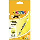 Bic 8119021 Highlighter Technolight Surligneurs - Couleurs Assorties, Etui Carton de 5