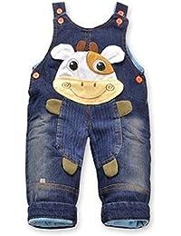 Jeans Latzhose 'Kuh'| Baby Hose