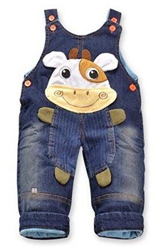 Jeans Latzhose \'Kuh\'| Baby Hose, Größe:18-24 Monate