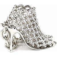 nicebuty Liroyal Maycom 86113llavero decorativo y Tendance diseño zapato mujer de tacón alto Idea regalo plateado, Silver, S