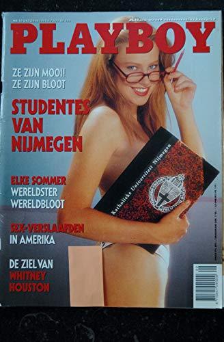 PLAYBOY NEDERLAND 1991 10 Studentes van Nijmegen ELKE SOMMER WHITNEY HOUSTON