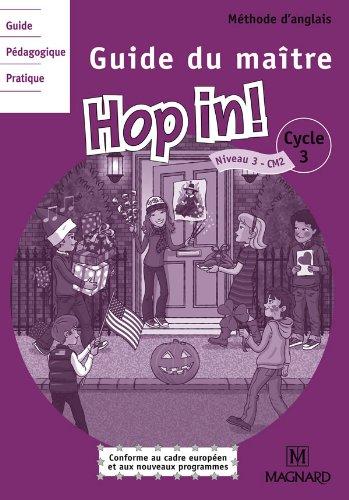 Anglais CM2 Hop in! : Guide du maître (2CD audio) par Elisabeth Brikké