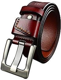 e8e81a2a9e62 Ceintures pour hommes courroie avancée caisse décontractée cuir de mode cuir  haute densité alliage aiguille ceinture
