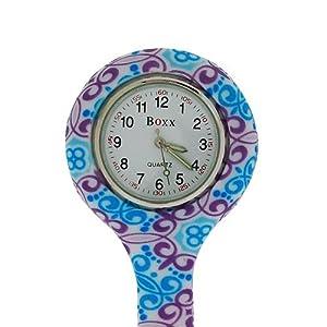 Boxx-Analógico Pantalla Funky Retro Design Silicona-Reloj de bolsillo para Enfermeras boxx381 de Time Accessories