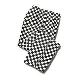 Köche Hose, Gummizug Hose Schachbrett Print Karierte Schlafhose Köche, ins14b Gr. M/40-34W, schwarz/weiß