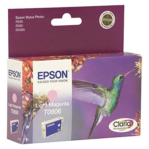 Epson T0806 Cartouche d'encre d'origine Magenta Clair