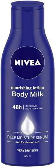 NIVEA Body Lotion, Nourishing Body Milk, For Very Dry Skin, 200ml