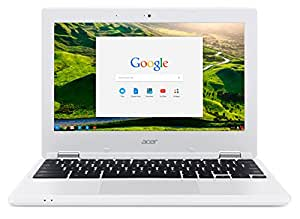 "Acer CB3-131-C0ED Chromebook, Processore Intel Celeron N2840, RAM da 4 GB, HDD da 32 GB eMMC, Display da 11.6"" HD LED, Scheda Grafica Intel HD, Sistema Operativo Chrome OS, Bianco"
