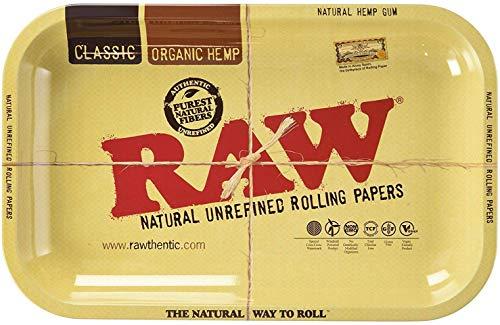 RAW 18609 AC1783 Small Metal Rolling Tray-27,5 x 17,5 cm, Metall, braun