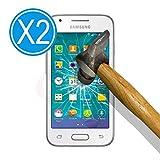 WoowCase 9H Tempered Glass [2 Unidades] Protector de Pantalla para [ Samsung Galaxy Ace 4 LTE SM-G313 ] Cristal Vidrio Templado Premium, Ultra Resistente a Arañazos, Dureza 9H