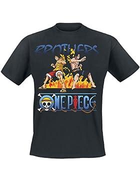 One Piece Brothers Camiseta Negro