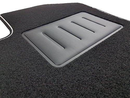 Il Tappeto Auto SPRINT00205 Tapis de sol en moquette noire, antidérapant, bord bicolore, talonnette renforcée en caoutchouc, pour A4 B6 / B7 2001 à 2007 Berline, Avant / Exeo 2008 à 2013 Vente