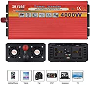 2000W 3000W 4000W Pure Sine Wave Power Inverter 12V/24V DC to 220V AC Car Converter with AC Outlets and USB Po