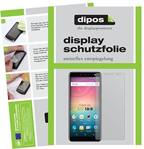 dipos I 2X Schutzfolie matt passend für Allview V3 Viper Folie Displayschutzfolie