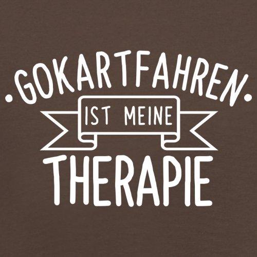 Gokartfahren ist meine Therapie - Herren T-Shirt - 13 Farben Schokobraun