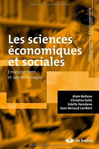 Sciences conomiques et sociales enseignement et apprentissage